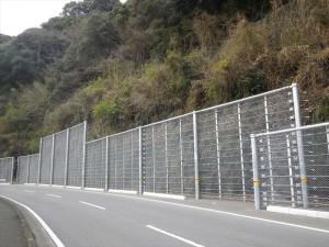 【平成24年度完成】西予市野村町 高エネルギー吸収型落石防止柵